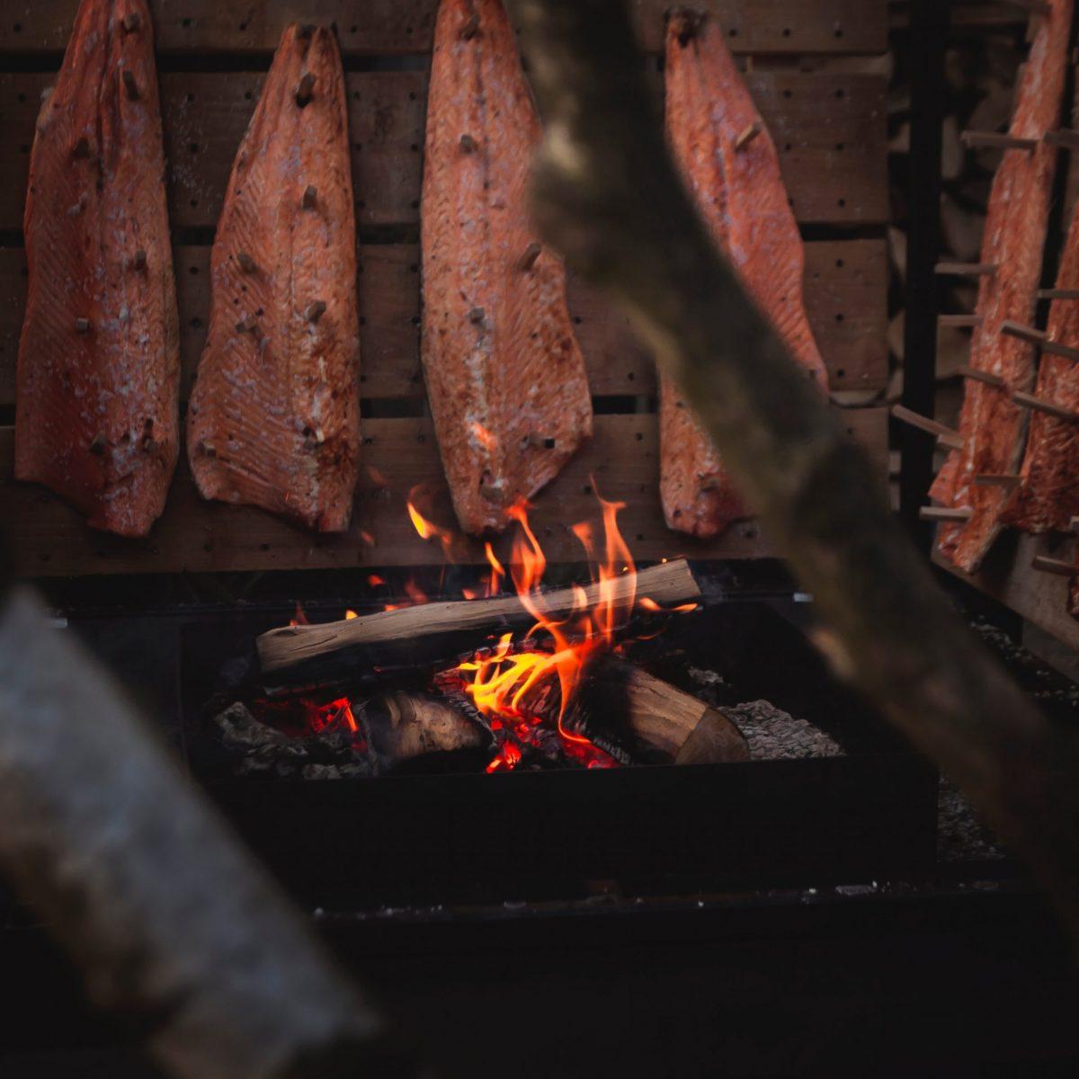 Crêpe soufflée au saumon fumé